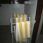 large clean beach towels