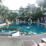 The hotel pools