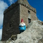 G'nome stops by Huntingtower aka: Ruthven Castle.