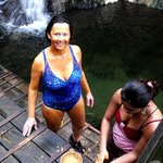 Marita getting mud applied