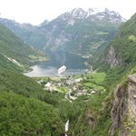 Geiranger in the valley