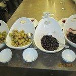 olives at breakfast