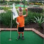 Four year old grandson gets his 1st hole in one