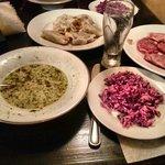 Monk Bowl - Suppe, Salat, 6x Pieroggy