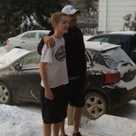 Mike and Alex Experiencing Saskatoon's Cold Weather