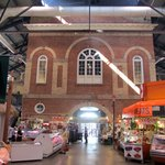 Market hall in former city hall