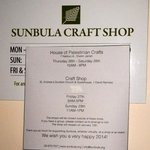 Craft Shop Hours
