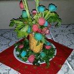 Composizione di verdure creata per il cenone di capodanno 2013