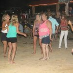 Dancing to Live Music on the Sand Patio