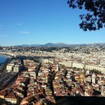 View of nice from top of castle hill