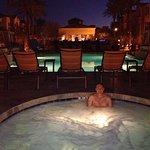 Hot tub at night!