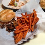 Pulled Pork with sweet potato fries