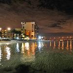 Quality Beach Resort night scene