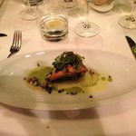 Arctic char, quinoa with fennel lemon confit and caviar vinaigrette