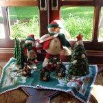 Decoração de Natal no refeitório