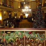 The grand front lobby of the Pfister.