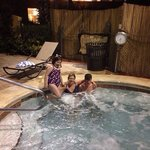 Hot tub in the evening! X
