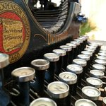 There are a few antiques scattered around the Inn, such as this Underwood No. 5 typewriter.
