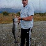 A 6.5 kg fresh salmon