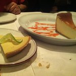 Key lime pie and NY Cheesecake
