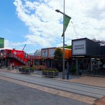One city block in central Christchurch has been rebuilt using sea containers as shops and cafes