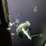 """Door knob from their """"upgraded"""" room"""