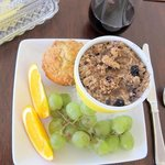 This delicious baked oatmeal dish came from a quaint little restaurant downtown Billings called