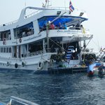 dive boat on 12/30/2013...with 100 divers for the one day on our liveaboard that should have had