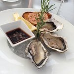 Hors d'oeuvre - oysters and foie gras