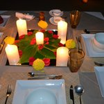 Candle light dinner...