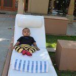 My son relaxing...