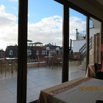 Outdoor patio with view of Marmara Sea