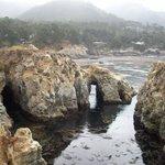 Ridge with hole next to Gibson beach