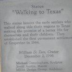 """walking to Texas"""