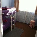 dorm room in hustel