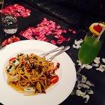 Spicy Spaghetti seafood