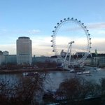 The view of London Eye from our room