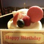 My birthday cake courtesy of the hotel