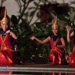 Laos dancers at the hotel