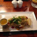 Herb crusted haddock