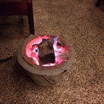Much needed fire to stay warm.....as it was brrrrrrrr
