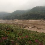 The fast flowing Mekong River