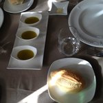 Bread and dipping oil to start