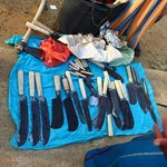 The various knifes used by fishermen