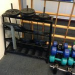 Plates for press and very light dumbbells (5kgmax).