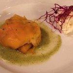 gamberi in crema di zucca e gelato al parmigiano