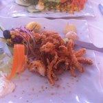 fritierter Tintenfisch