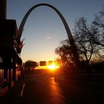 Sunrise at the arch