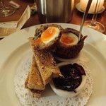 Haggis Scotch Egg - News Year Eve 2013 Delicious
