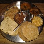 a healthy meal ..... super thali